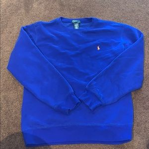 Boy's royal blue sweatshirt